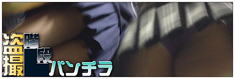 無修正エロ動画:追い撮り!!階段パンチラ:丸見えまんこ