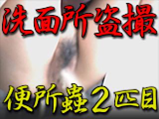 無修正エロ動画:洗面所盗SATU BEN所蟲リターンズ2匹目:パイパンマンコ
